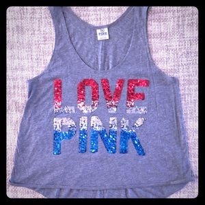 Victoria's Secret Pink July 4 Sequin Tank America